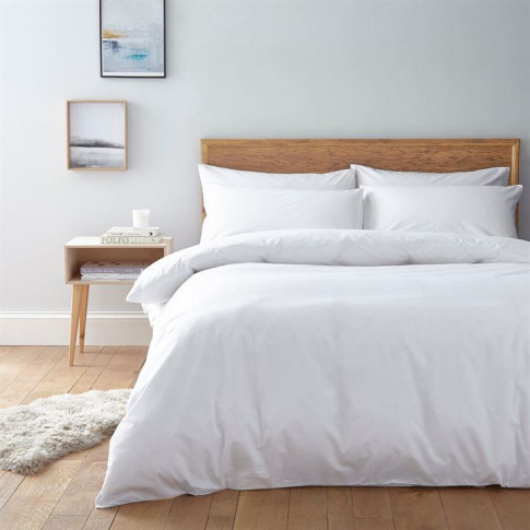 Linea Egyptian 200 Thread Count Fitted Sheet - White