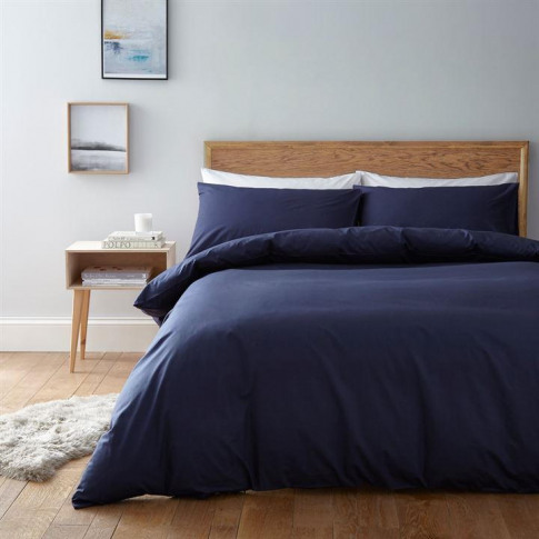Linea Egyptian 200 Thread Count Fitted Sheet - Navy