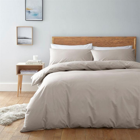 Linea Egyptian 200 Thread Count Fitted Sheet - Stone