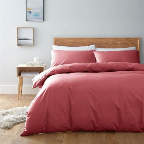 Linea Egyptian 200 Thread Count Fitted Sheet - Coral