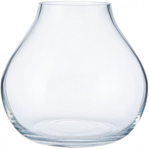 Hotel Collection Globe Clear Vase 18cm