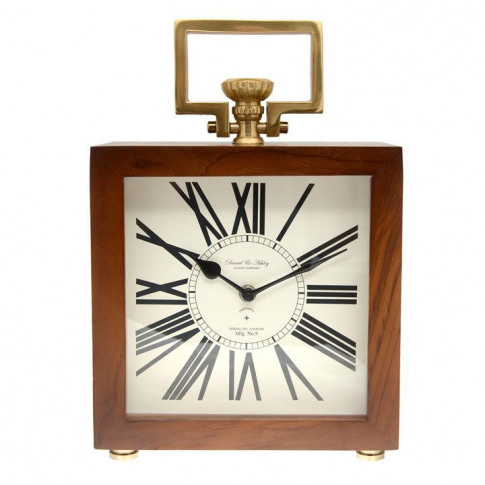 Hotel Collection Hotel Wooden Mantle Clock