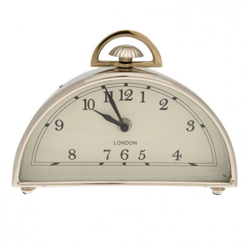 Hotel Collection Hotel Dome Mantle Clock - Silver
