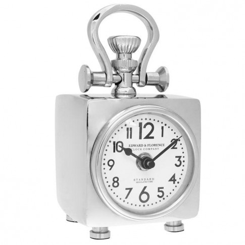 Hotel Collection Hotel Clock - Silver