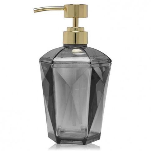 Biba Gold Soap Dispenser - Faceted Grey
