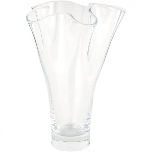 Biba Handkerchief Plum Vase 30cm - Clear