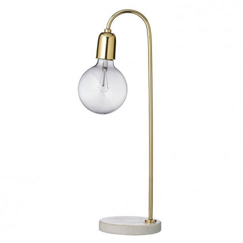 Bloomingville Gold Marble Table Lamp - Light Brown