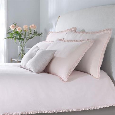 Hotel Collection Ella Pillowcase Pair - Blush