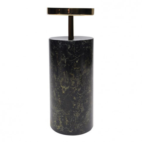 Biba Marble Candle Holder - Green Marble
