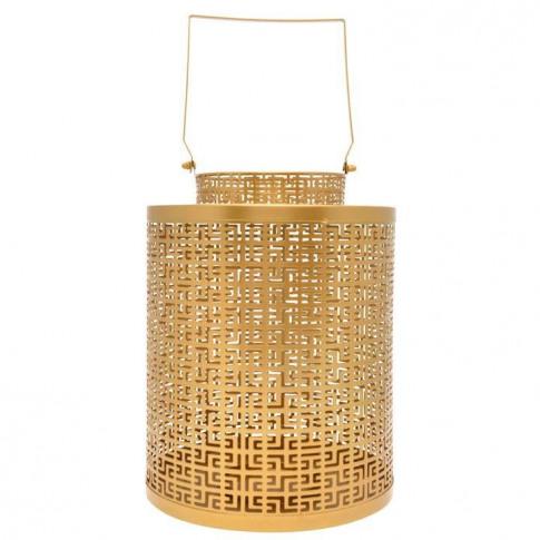 Biba Cut Out Votive Lantern - Gold