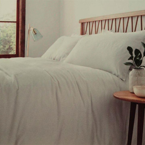 Linea Linea Flannel Fitted Sheet - Cream