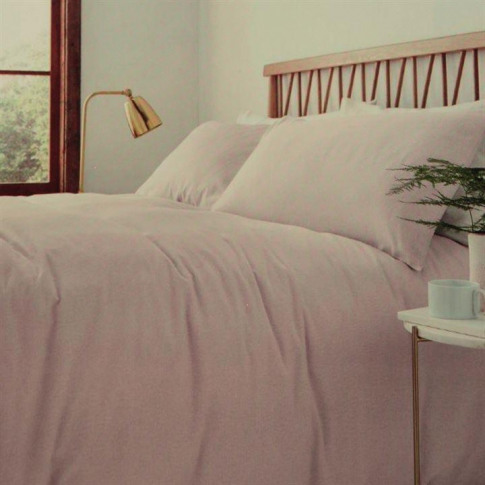 Linea Linea Flannel Fitted Sheet - Blush