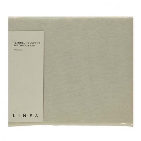 Linea Linea Flannel Housewife Pillow Case Pair - Cream