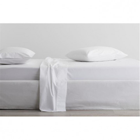 Sheridan Organic 300tc Percale Fitted Sheet - Snow