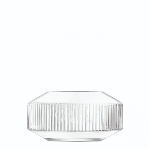 Lsa Rotunda Wide Vase H14cm - Clear