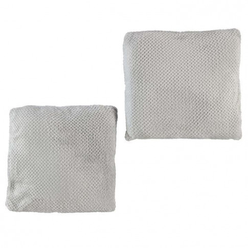 Linens And Lace 2 Pack Flannel Fleece Cushions - Grey