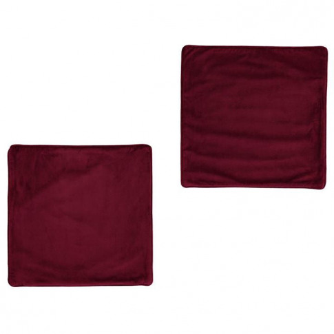 Linens And Lace 2 Velvet Cushion Covers - Burgundy