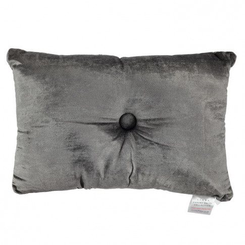 Hotel Collection Hotel Collection Velvet Cushion - Smoke