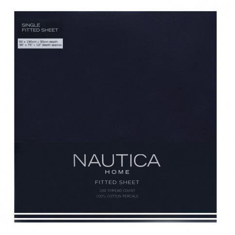 Nautica Fitted Sheet - Navy