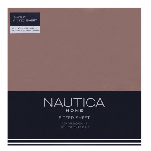 Nautica Fitted Sheet - Mocha
