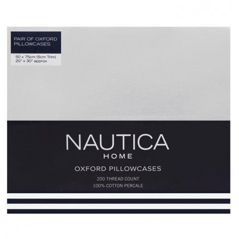 Nautica Oxford Pillowcases - White