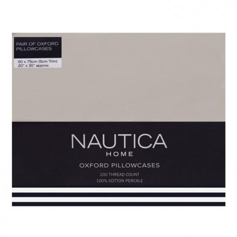 Nautica Oxford Pillowcases - Cream