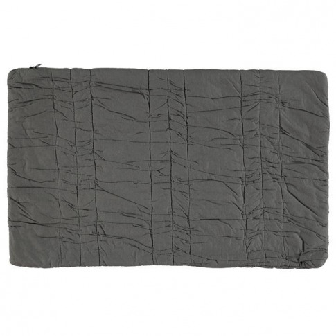 Linea Charcoal Ruched Cushion Cover