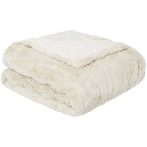 Hotel Collection Hotel Ruched Faux Fur Throw - Cream