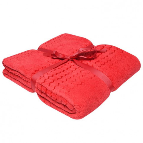 Linens And Lace Zigzag Throw - Red