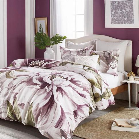 Peri Home Peony Blooms Duvet Cover - Multicoloured