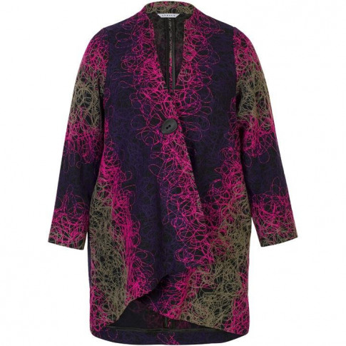 Chesca Scribble Embroidered Coat