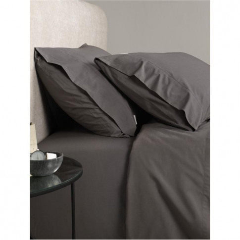 Sheridan Classic Percale Charcoal Single Fitted Sheet
