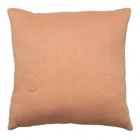 Bloomingville Quilted Circle Coral Cushion