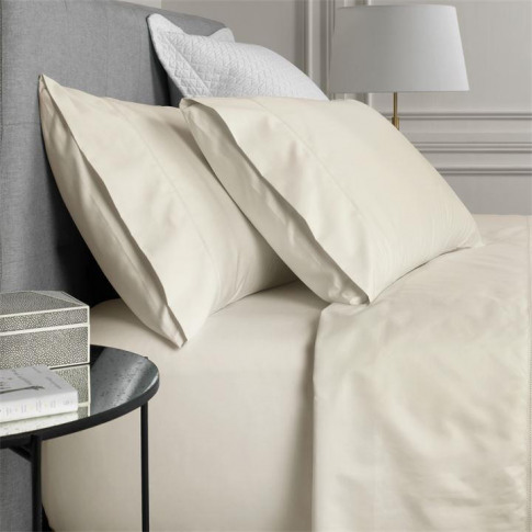 Sheridan Hotel-Weight Luxury Chalk Double Fitted Sheet
