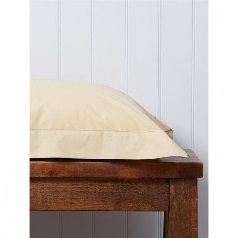 Christy 200 Plain Dye Super King Fitted Sheet Gold