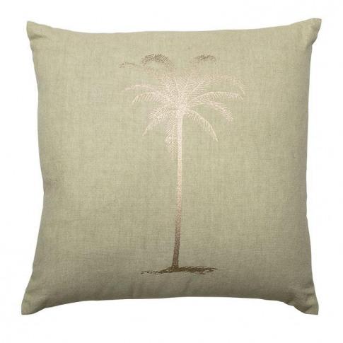 Bloomingville Palm Tree Foil Cotton Cushion