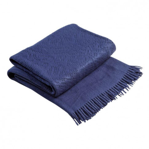 Christy Lace Throw 130 X 170cm Navy