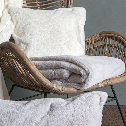 Gallery Arctic Hare Throw Silver