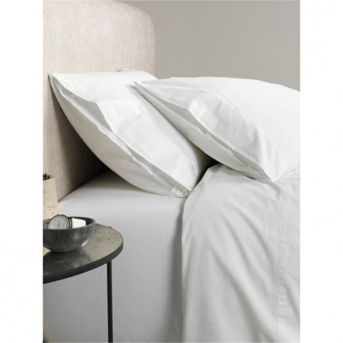 Sheridan Classic Percale Snow King Fitted Sheet