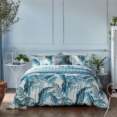 Sanderson Palm House Duvet Cover - Eucalyptus