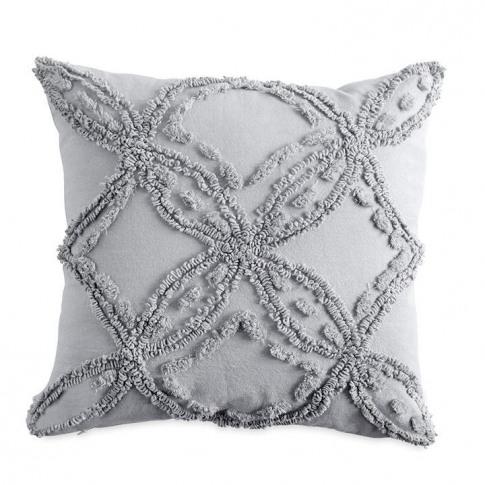 Peri Home Metallic Chenille Cushion 45x45cm - Grey