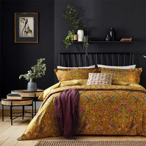 Morris And Co Seasons By May Duvet Cover - Gold