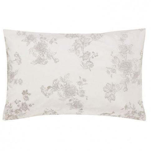 Joules Woodland Floral Std Pillowcase - Chalk
