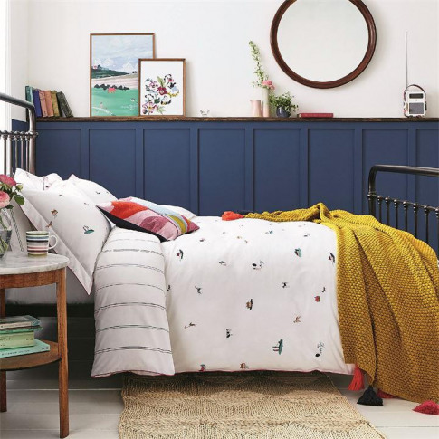 Joules Countryside Scenes Duvet Cover Set - Chalk