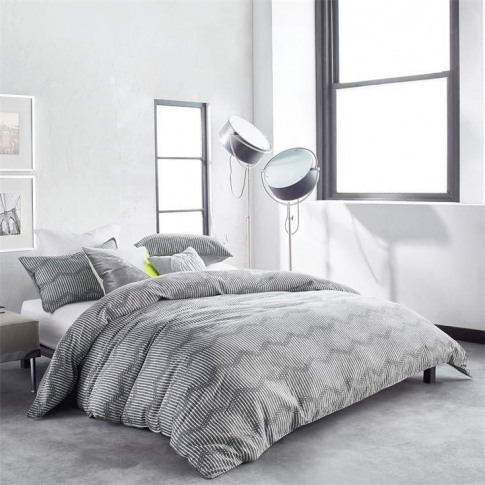 Dkny Dot Chevron Duvet Cover - Grey