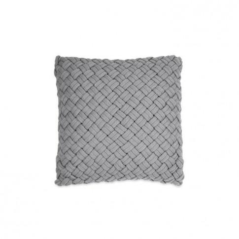 Dkny Chunky Knit Cushions 46x46cm - Grey