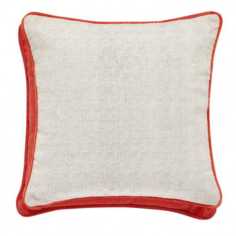 Joules Country Leaf Cushion 40x40cm - Linen