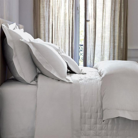 Yves Delorme Triomphe Fitted Sheet - Silver