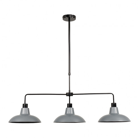 Huckleberry Black 3 Way Over Table Light With Silver...