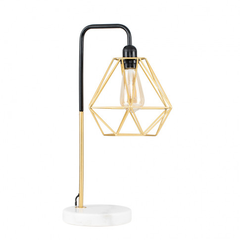 Talisman Gold Table Lamp With Gold Diablo Shade